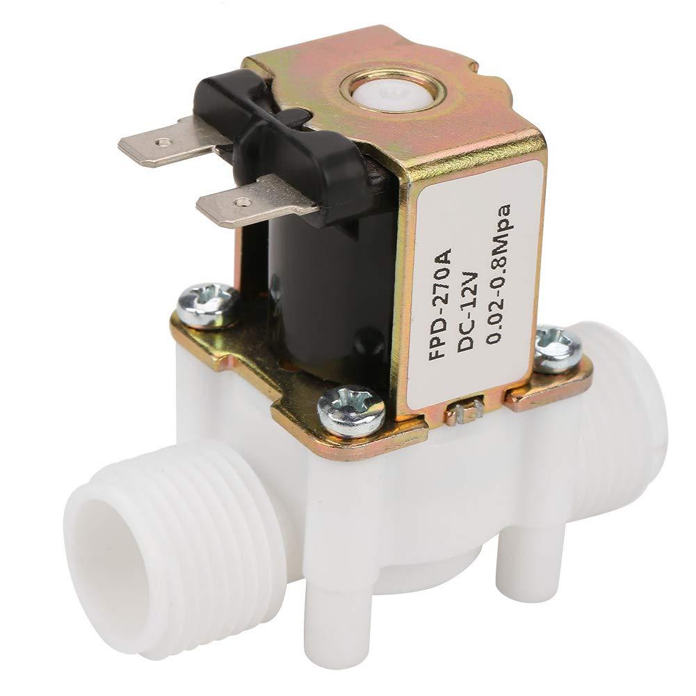 Akozon Vá lvula de solenoide de agua 12V G1 / 2'NC Vá lvula de agua de solenoide de entrada elé ctrica para dispensar agua