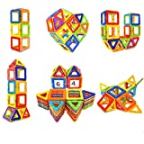 toddler room ideas Soyee Magnetic Blocks Educational Toys for 3, 4, 5, 6 Year Old Boys and Girls Stacking Toddler Toys 64pcs Magnetic Tiles Big Building Block Set Great STEM Toy Gift Idea for Kids