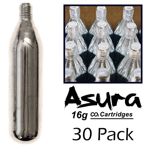 (Asura 16 Gram CO2 Threaded Cartridges 30 Count)
