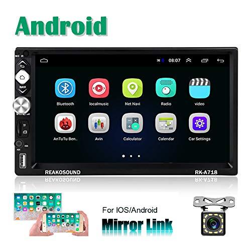 2 Din Android Radio Coche Gps Camecho 7 Pulgadas Pantalla Tactil Capacitiva Bluetooth Wifi Usb Sd Aux Fm Estereo De Automovil Mirror Link Camara Trasera