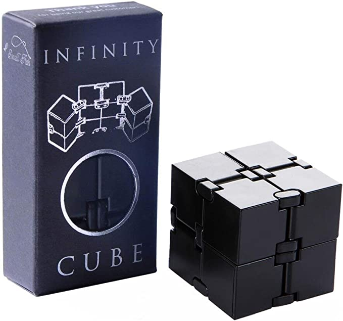 Infinity Cube Stress Relief Fidget Anti Anxiety EDC ADD ADHD Magic Puzzle Toy uk
