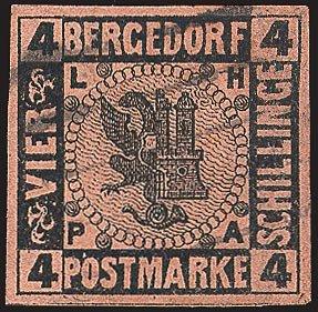 Goldhahn Bergedorf Nr. 5 gestempelt Briefmarken für Sammler