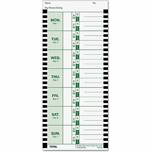 Thermal Clock - CARD,TIME,THERML,100PK,WH