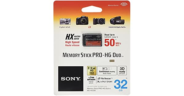 Amazon.com: 32 GB tarjeta de memoria Sony Memory Stick PRO ...