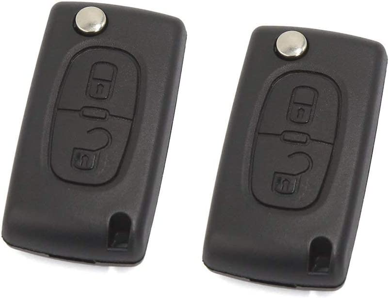 Autoly 4 Button Remote Key Fob Case Cover Shell Black fits for Saab 93-95