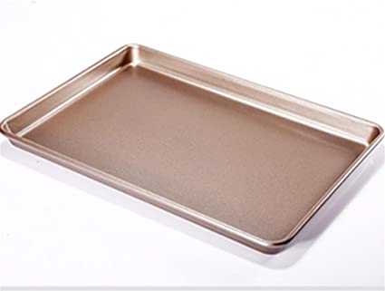 pengwei13 pulgadas antiadherente para hornear molde delgado placa rectangular bandeja de oro con las galletas de