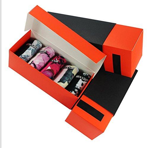 Casual Socks for Women,Ladies Graceful Printed Soft Winter Warm Cotton Socks WXXM 5 Pairs-Gift Box -