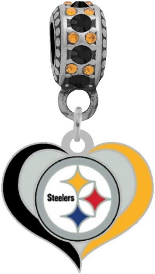 Pittsburgh Steelers Team Logo Bead Bracelet