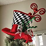 Top Hat Tree Topper - Christmas Tree Topper - Tree Topper Bow - Top Hat Tree Topper - Christmas Decoration -