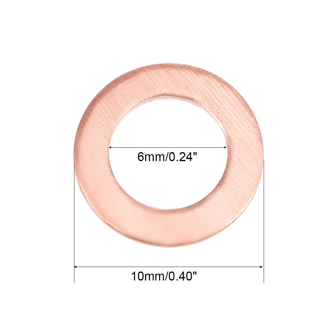 10mmx14mmx1.5mm Copper Crush Washer Flat Ring Gasket Fitting 20 Pcs Uxcell US-SA-AJD-345444