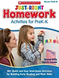 img - for Just-Right Homework Activities for PreK-K: 50+ Quick and Easy Send-Home Activities for Building Early Reading and Math Skills book / textbook / text book