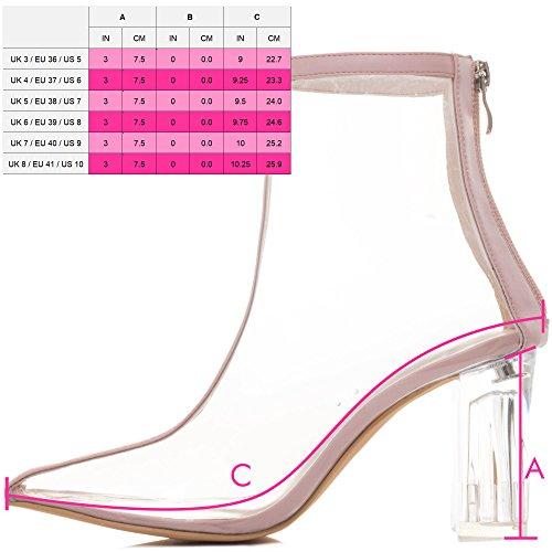 Bloc Spylovebuy Synthétique Chaussures Femmes Extra Bottines à Tirette Talon Nude qHvSHZA
