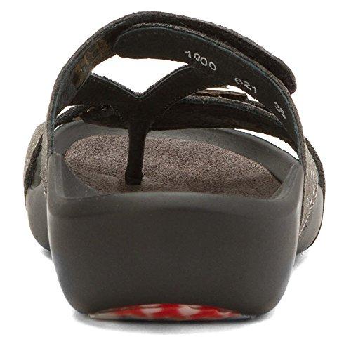 anthrazit Snakeprint Wolky nbsp;Oconnor 01000 621 Leder Comfort Pantoletten qwFXwfU