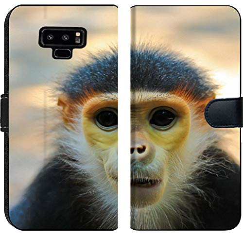 Samsung Galaxy Note 9 Flip Fabric Wallet Case Image ID: 14246665 Douc Langur Monkey Close up