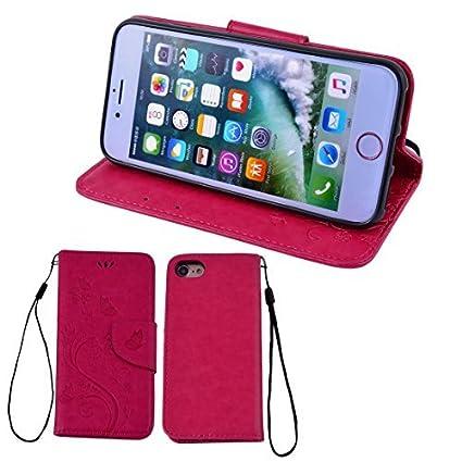 eDealMax Faux LeatherFlower Patrón cubierta del teléfono de la carpeta del tirón Casos Shell Protector rosa