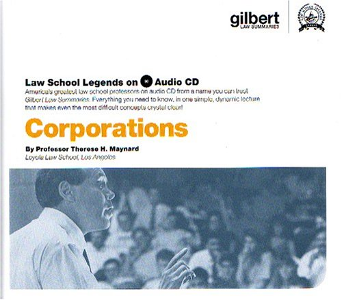 Law School Legends Audio on Corporations (Law School Legends Audio Series)