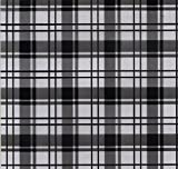 Hydrographics Film- Water Transfer Printing Film - Black Clear Plaid 1.6FT Width (1.6FTX6.6FT)- Water Transfer Film