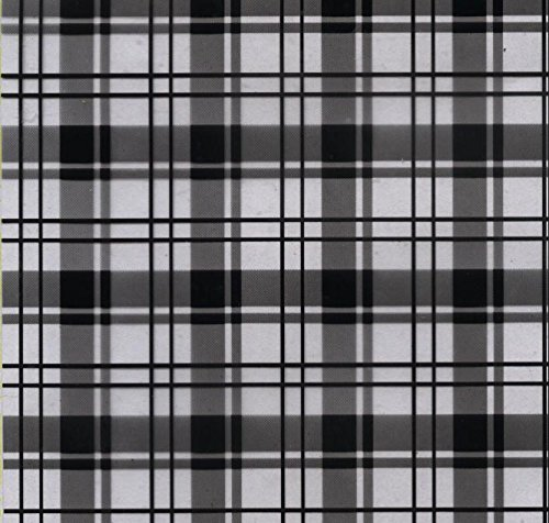 Hydrographics Film- Water Transfer Printing Film - Black Clear Plaid 1.6FT Width (1.6FTX6.6FT)- Water Transfer Film by Colorful Hydrographics Coating