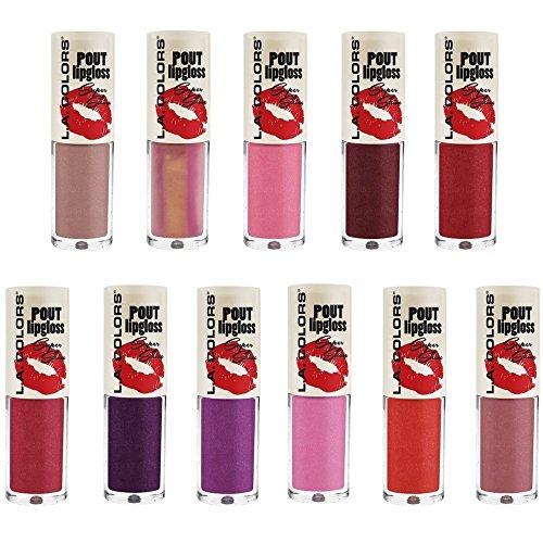 ((11 Colors) LA COLORS POUT Super Shine Lip Gloss)
