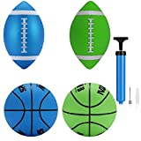 Stylife Mini Indoor Basketball Waterproof balls for Kids Soft and Bouncy (pale green and blue)