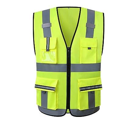 Ajustable Seguridad Alta Visibilidad Chaleco Reflectante Tira Elástica Chaqueta
