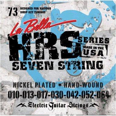 La Bella HRS-73 Nickel 7-string Electric Guitar Strings - .010-.064 Heavy ()