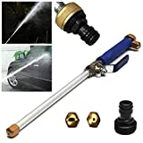 Dunnomart New 1pc 46.5CM Best Choice High Pressure Power Washer Spray Nozzle Water Hose Wand Attachment Garden Hose Hecht