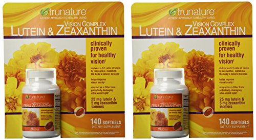 TruNature Vision Complex with Lutein & Zeaxanthin - Great Value Pack of 2 (Total 280Ct Softgel Type) xnccswa