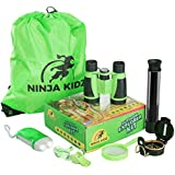 Educational Outdoor Explorer Toys For Kids | Binocular, Flashlight, Compass, Telescope, Magnifying Glass, Whistle, Backpack  | Adventure Exploration Set | Camping, Hiking,  Bird Watching by Ninja Kid