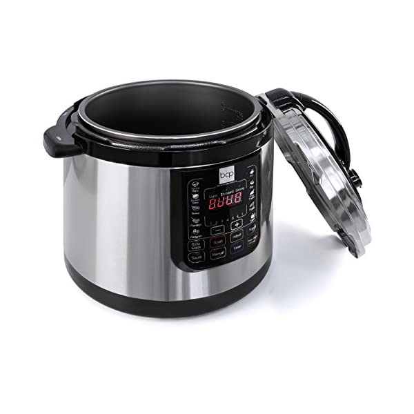 Best Choice Products 6L 1000W Multifunctional Stainless Steel Non-Stick Electric Pressure Cooker w/LED Display Screen… 3