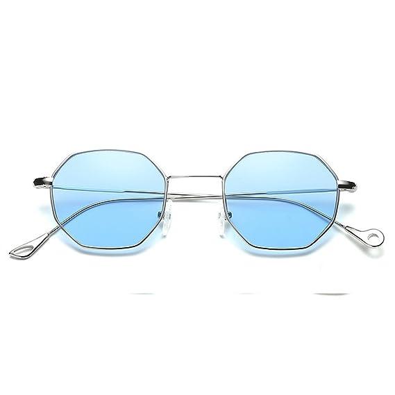 Sannysis gafas de sol hombre polarizadas Unisex Gafas de sol vintage de moda Gafas irregulares Gafas de sol de espejo de aviador de moda con marco de ...