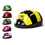 3Style Scooters - Kids Cycle Helmet in Bumblebee Design - For Cycling, Skating, Scooting - Adjustable Headband - For Head Sizes 49cm - 51cm - Suitable For Kids Aged 3+ (S)