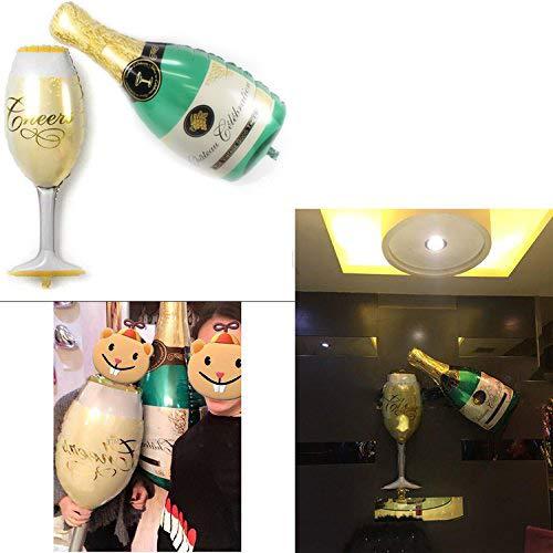 Globos de Helio Decoración Botellas de Champán Inflables ...