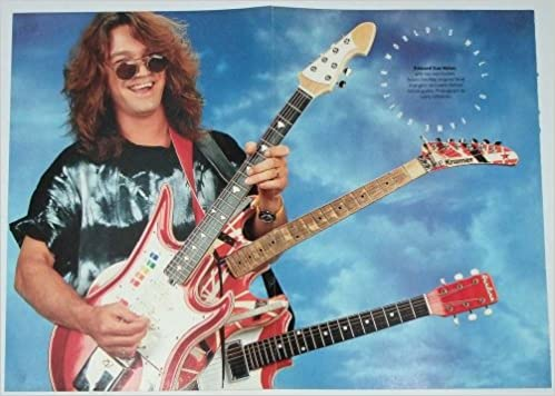 Eddie Van Halen Poster 2 Page Fold Out Essential Axes Kramer Airline Guitar C Collector Magazines Amazon Com Books