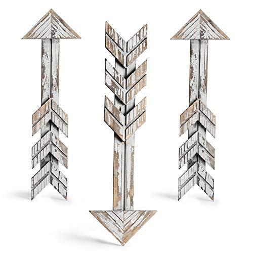 (CALIFORNIA CADE ELECTRONIC Rustic Wall Decor-Farmhouse Decor-Home Decor Arrow Barnwood Decorative Arrows Barn Wood Decorative Signs-Decoration for Room or Wedding (3, 4.5X15 inches))