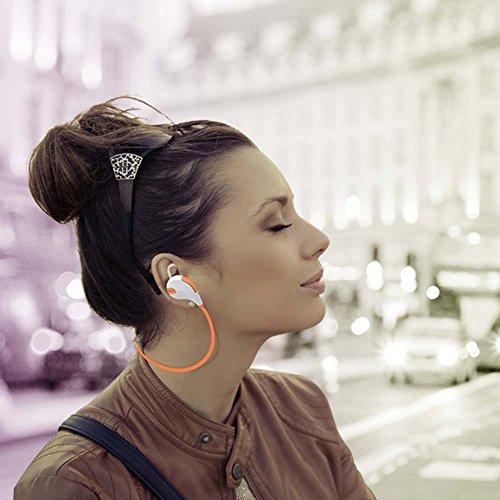 Mpow Swift Auricolari Wireless Bluetooth 4.0 Headset Stereo Cuffie Sportive  a Prova di Sudore con Microfono e AptX Headphone per iPhone 6s plus c293b86b0f54