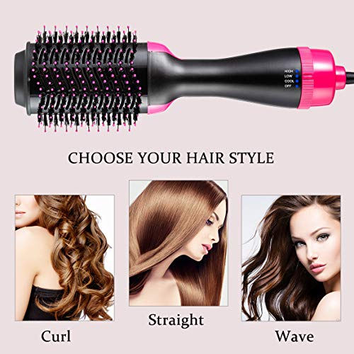 One Step Hair Dryer & Volumizer, Hot Air Brush All In One Hair Brush and Dryer Professional Negative Ion Hair Hot Comb, Black by Gelma (Image #8)
