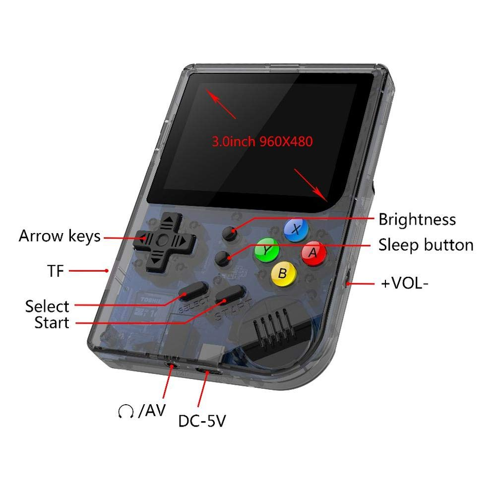 Layopo RG300 Game Console, Opening Linux Tony System Retro Handheld Game Console 16GB Support 32G TF Card 3 Inch Screen More Than 3000 Games Portable Video Game Console by Layopo (Image #4)