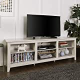 WE Furniture 70' Wood Media TV Stand Console - White Wash