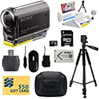 Sony HDR-AS30V HD POV Action Camcorder with 47stPhoto Must Have Accessory Kit Includes - 32GB High-Speed SDHC Card + Card Reader + NP-BX1 1400mAh Li-ion Battery + AC/DC Battery Charger + Hard Shell Carrying Case + Professional 60 Tripod + Lens Cleaning Kit including LCD Screen Protectors Photo Print