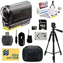 Sony HDR-AS30V HD POV Action Camcorder with 47stPhoto Must Have Accessory Kit Includes - 32GB High-Speed SDHC Card + Card Reader + NP-BX1 1400mAh Li-ion Battery + AC/DC Battery Charger + Hard Shell Carrying Case + Professional 60