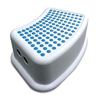 Addis Kinder Badezimmer Booster Schritt Hocker, weiß/blau, 24 x 36,5 ...