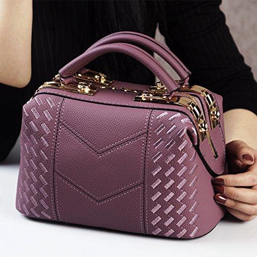 Bolsos deep Mujeres de Claret Bolsas de Platino ZHANGJIA Bolsos purple Hombros Mujer de dSPPxTB