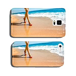 Woman running on the beach cell phone cover case iPhone5