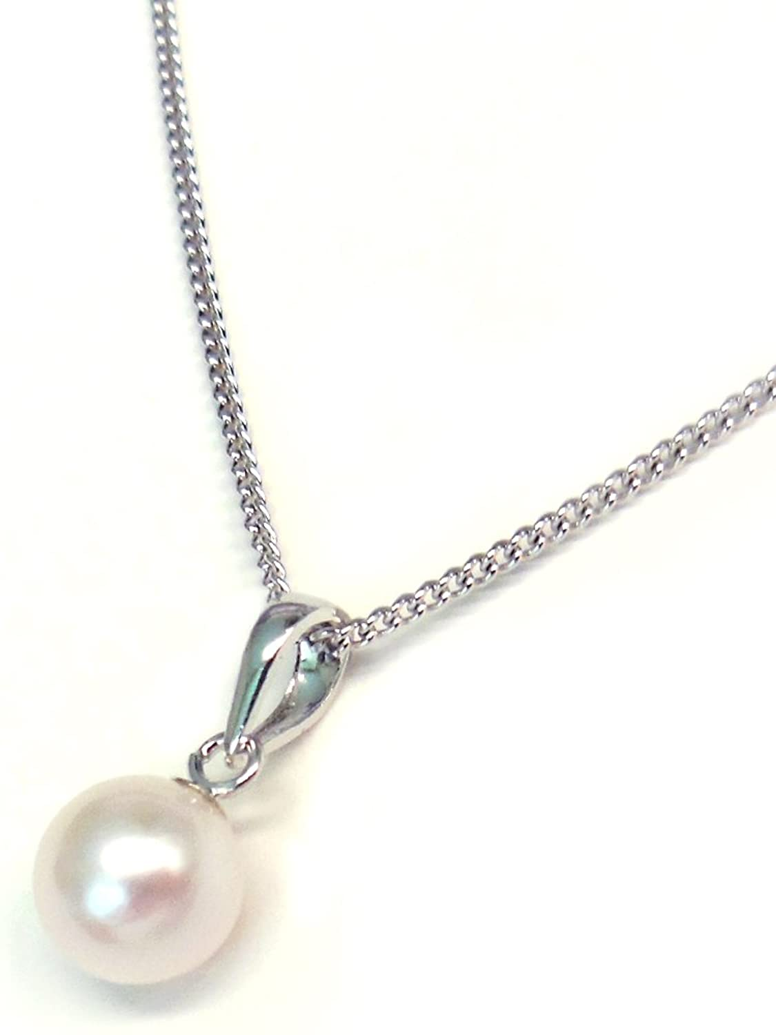Made In Japan Akoya Pearl Pendant Necklace Silver Sv925
