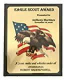 Eagle Scout Award, Boy Scout Award, Recognition Plaque - Customized