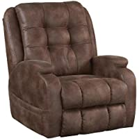 Catnapper Power Lift Full Lay-Out Recliner with Comfort Coil Seating Featuring Comfor-Gel - Dual Motor Comfort Function - Plush Seat - Polyester (Almond) - Weight Capacity 400lb.