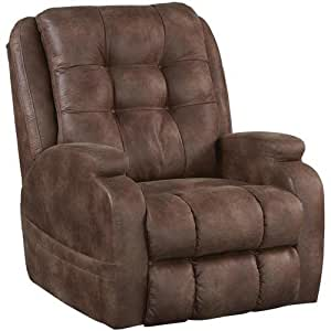 """Catnapper Power Lift Full Lay-Out Recliner with Comfort Coil Seating Featuring Comfor-Gel - """"Dual Motor"""" Comfort Function - Plush Seat - Polyester (Almond) - Weight Capacity 400lb."""