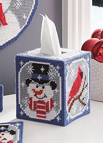 Let It Snow Tissue Cover Plastic Canvas Kit