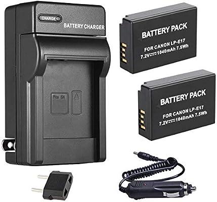 Batería (2 Unidades) y Cargador para cámara réflex Digital Canon ...